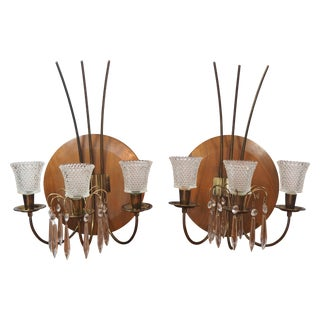 Mid Century Candle Sconces - a Pair
