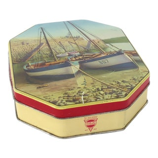 Vintage Sailboat Toffee Tin