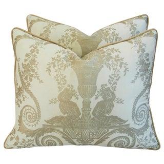 Custom Italian Fortuny Lamballe Pillows - Pair