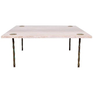 Travertine Coffee Table by Pepe Mendoza
