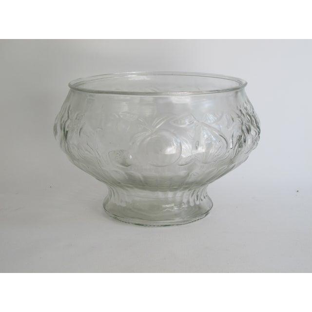 Image of Italian Glass Harvest Punch Bowl