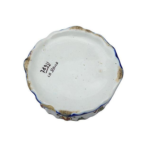 French Faience Crested Trinket Box - Image 4 of 4