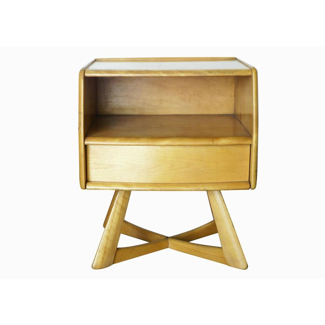 Heywood Wakefield M778 Sculptura Nightstand - Pair - Image 3 of 7
