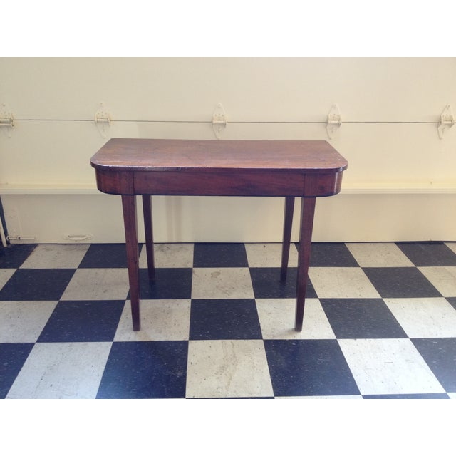 Antique 19th century mahogany table chairish for Table th width