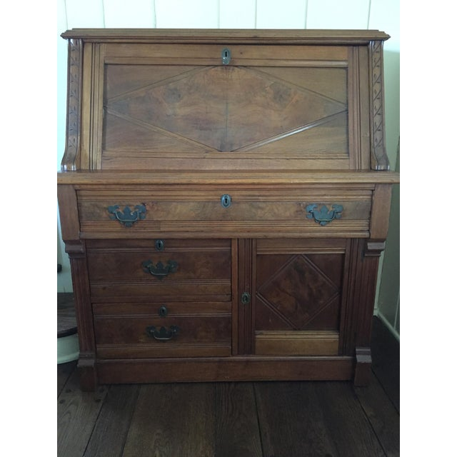 Antique Fall Front Secretary Desk - Image 2 of 6