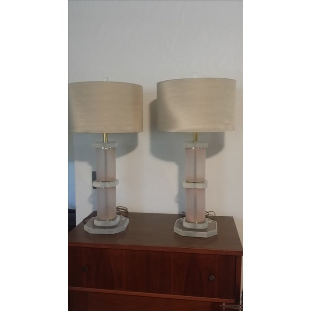 Lucite Lamps - Pair - Image 2 of 5