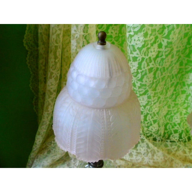 Art Deco Glass Table Lamps - Pair - Image 8 of 9