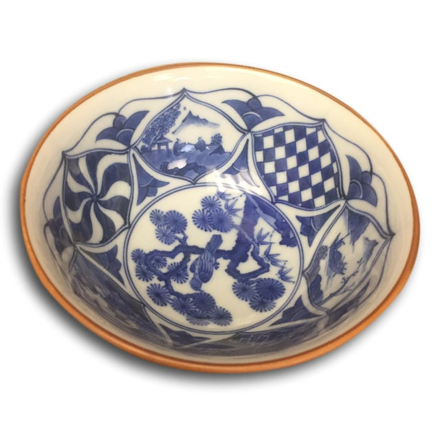 Small Vintage Porcelain Japenese Blue & White Decorative Imari Bowl - Image 3 of 4
