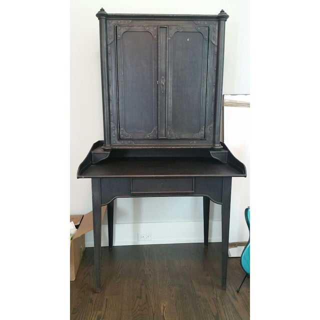 Restoration Hardware French Iron Secretary - Image 2 of 3