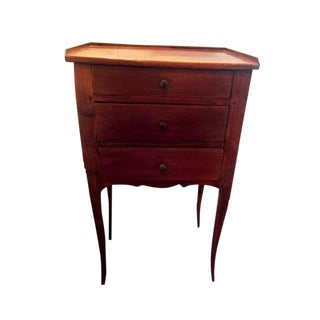 Antique Petite 3-Drawer Bedside Table