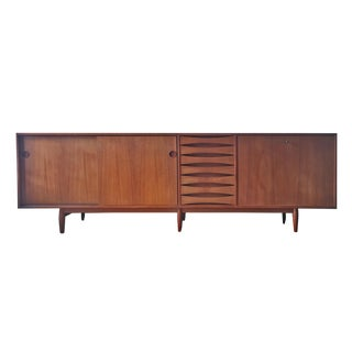 1950s Arne Vodder Teak Credenza Model 29A with Reversible Doors
