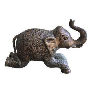 Brass Indian Elephant Figurine