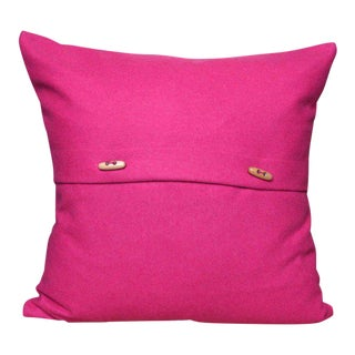 Italian Eco-Friendly Pink Wool Pillow