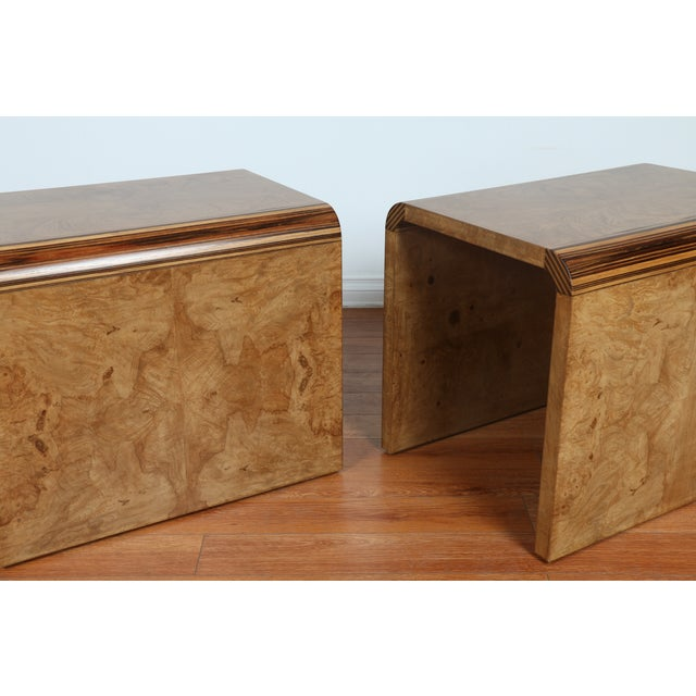 Mid Century Burlwood Nightstands - 2 - Image 9 of 9