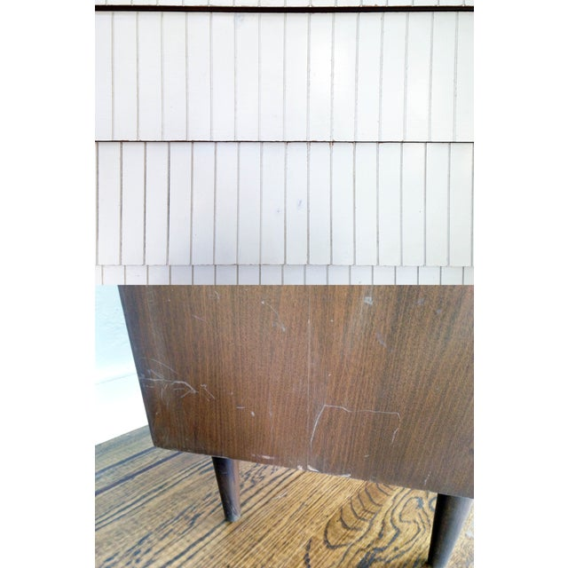 Image of Mid-Century White Drawer Highboy Dresser