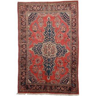 Hand Knotted Persian Mahal Rug - 6′10″ × 10′5″