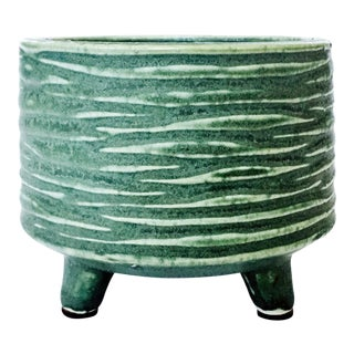 Mid-Century Green Pottery Planter