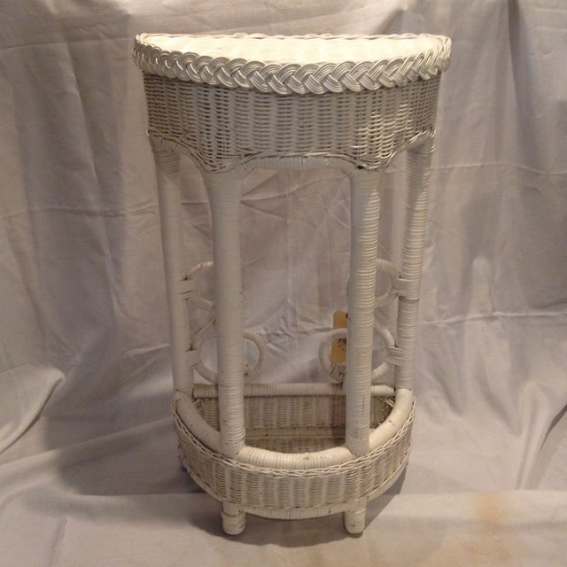 Image of Vintage Wicker Plant Stand/Occasional Table