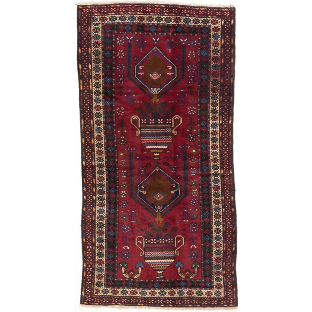 """Image of Antique Baluch Afghan Tribal Rug - 4'6"""" X 8'6"""""""