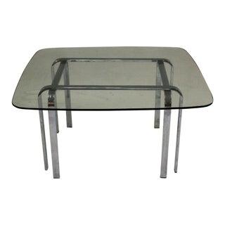 Chrome & Glass Coffee Table