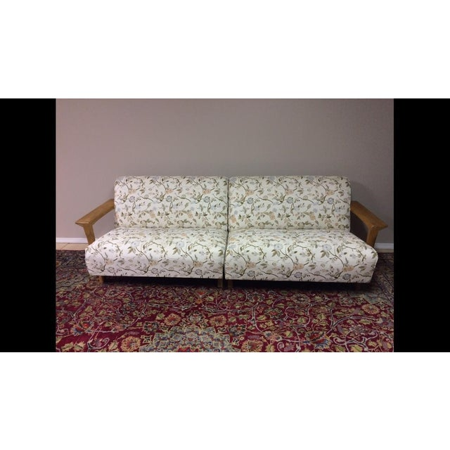 Mid Century Modern Atomic Long Couch - Image 2 of 10