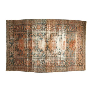 "Distressed Hamadan Carpet - 5'3"" x 7'11"""