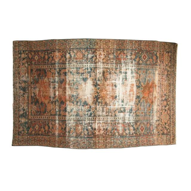 "Distressed Hamadan Carpet - 5'3"" x 7'11"" - Image 1 of 10"
