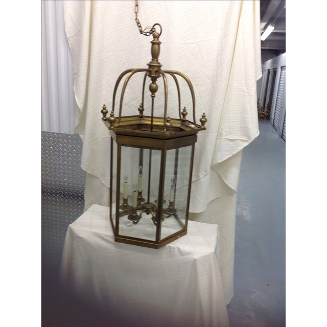 Image of Antique Brass Chandelier
