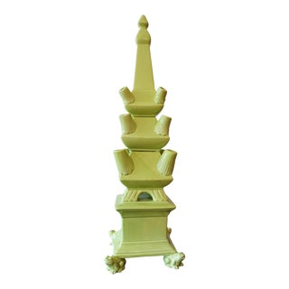 Green Frog Footed Tulipiere Tiered Tower