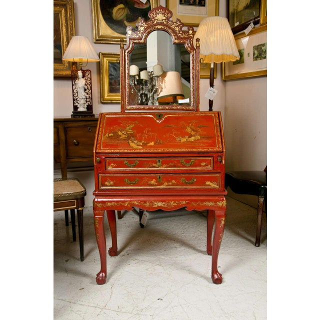 Antique 19th Century Painted Chinoiserie Vanity - Image 10 of 10