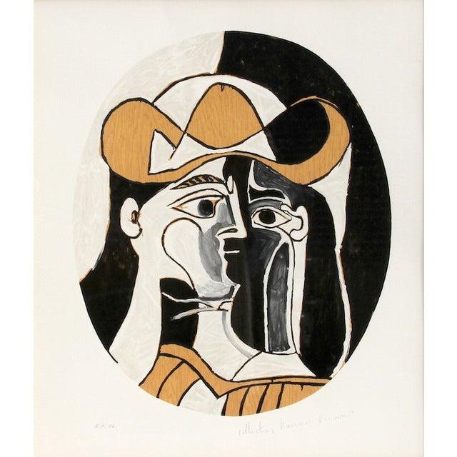"""Image of Pablo Picasso, """"Femme Au Chapeau,"""" Lithograph"""
