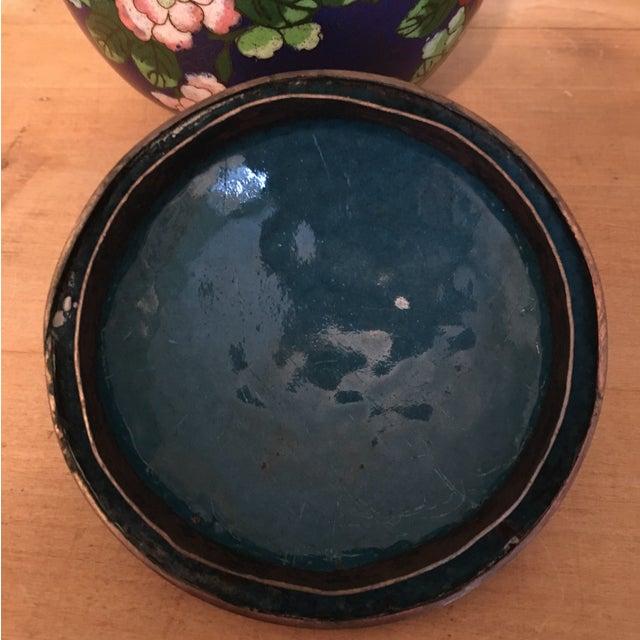 Vintage Cloisonné Bowl With Lid - Image 7 of 11