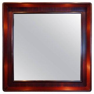 Teak Mid-Century Backlit Mirror by Pedersen & Hansen