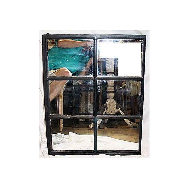 Iron Framed Mullion Mirror - Image 3 of 5