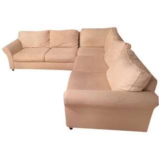 Pottery Barn L-Shape Upholstered Sectional