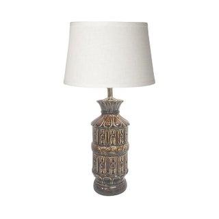Mid-Century Ceramic Tiki Lamp