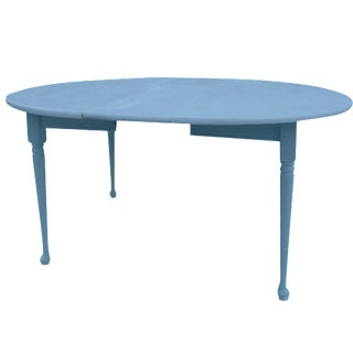 Heywood-Wakefield Two-Tone Blue & White Table