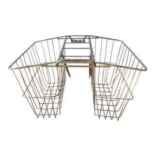 Vintage Twin Rear Carrier Bicycle Basket
