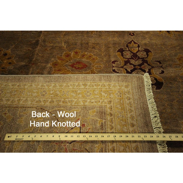 """Oushak Collection Brown Rug - 12'1"""" x 15'10"""" - Image 10 of 10"""
