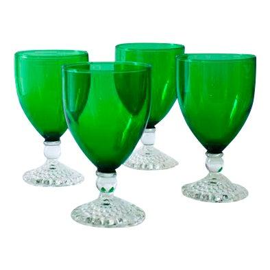 Emerald Wine Goblets - Set of 4 - Image 1 of 4