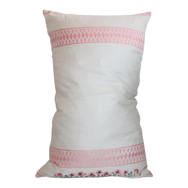 American Floral Tea Towel Pillow - Image 1 of 6