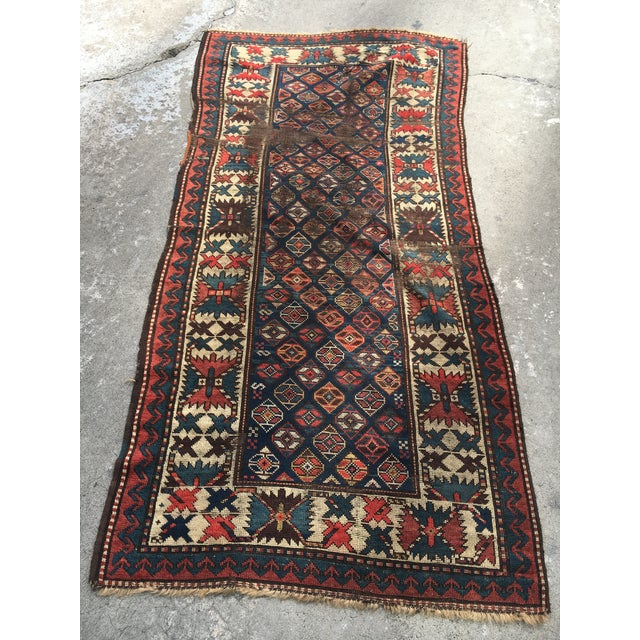 "Antique Russian Kazak Runner - 3'4"" X 7' - Image 2 of 7"