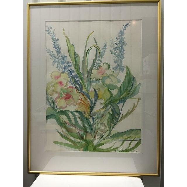 Ellen Friel Watercolor Painting in Gold Frame - Image 2 of 3