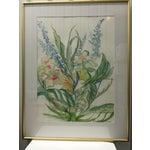 Image of Ellen Friel Watercolor Painting in Gold Frame