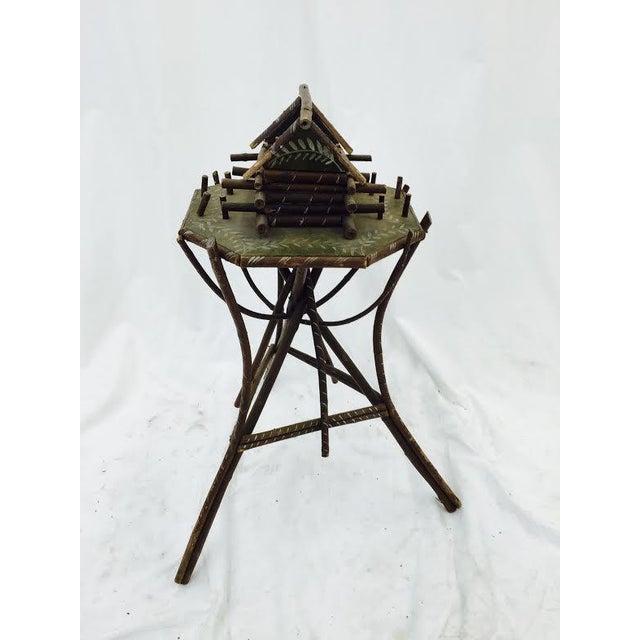 Folk Art Twig Game Table - Image 5 of 7