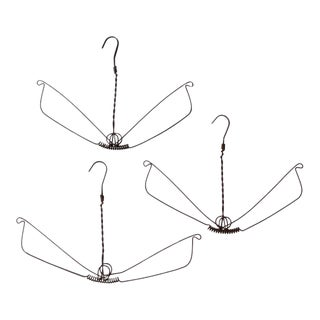 antique metal clothing hangers set/3