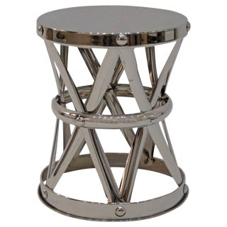 Nickel Finish Side Table