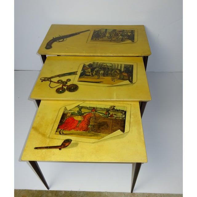 Aldo Tura Parchment Gigogne Tables - Set of 3 - Image 3 of 8