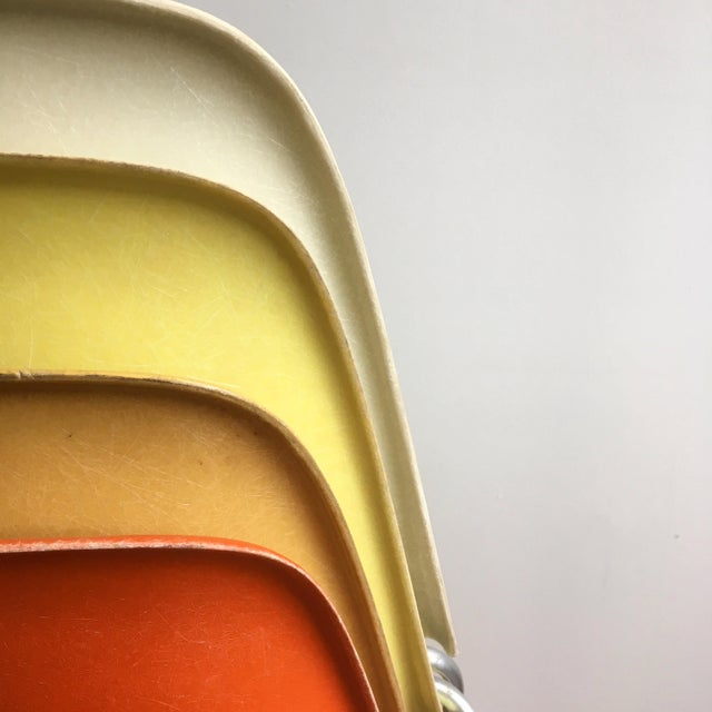 Vintage Herman Miller Eames Fiberglass Shell Chairs - Set of 4 - Image 4 of 10