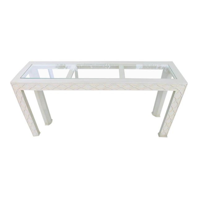 Henredon Chinoiserie Fretwork Console Table - Image 1 of 8
